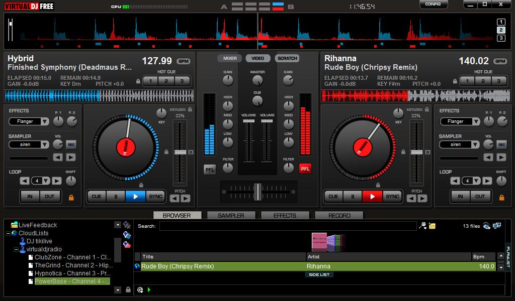 Broadcast with Virtual DJ