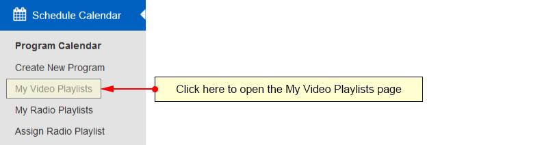 My Video Playlists-1