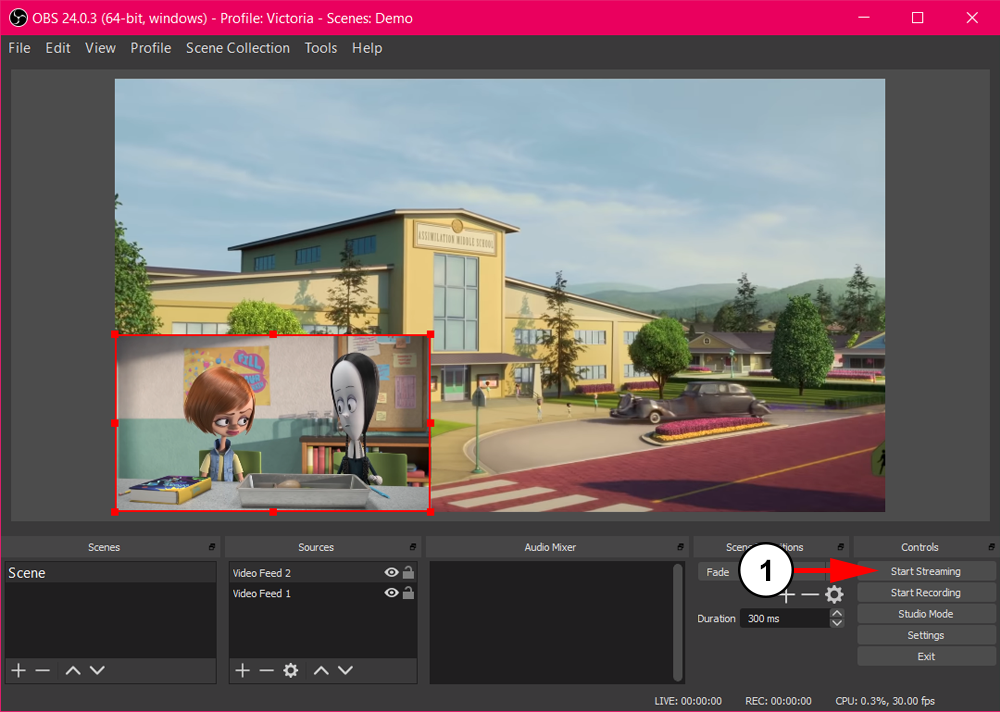 Broadcast Using OBS-04