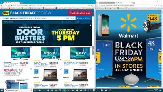 Best Buy vs Walmart Black Friday Deals 2017