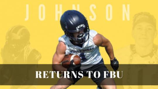 LOGAN JOHNSON RETURNS TO FBU