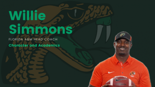 WILLIE SIMMONS: CHARACTER AND ACADEMICS