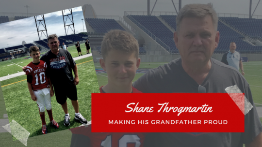 SHANE THROGMARTIN: Making His Grandfather Proud