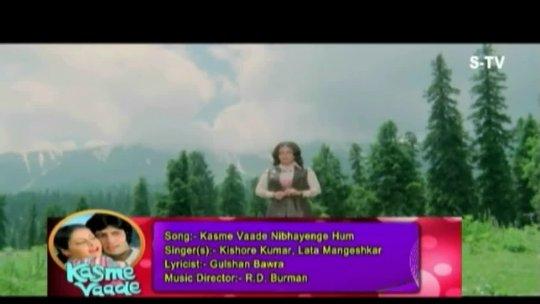 Kasme Vaade Nibhayenge Hum Kishore Kumar, Lata Mangeshkar Kasme Vaade Songs Amitabh Bachchan