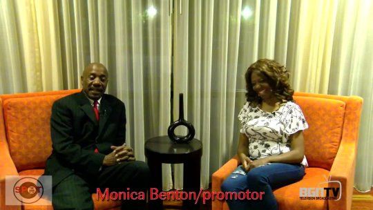 The Man on the spot with Monica