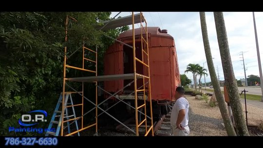 Day 1 OR Paint Train car