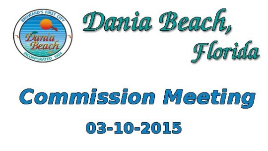03-10-2015 Commission Meeting