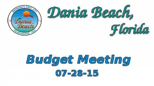 07-28-2015 Budget Meeting