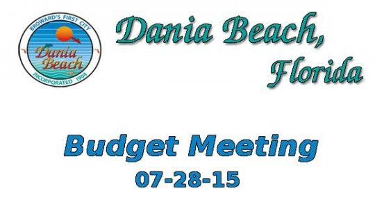 07-28-2015 Budget Meeting
