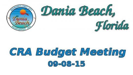 09-08-2015 CRA Budget Meeting
