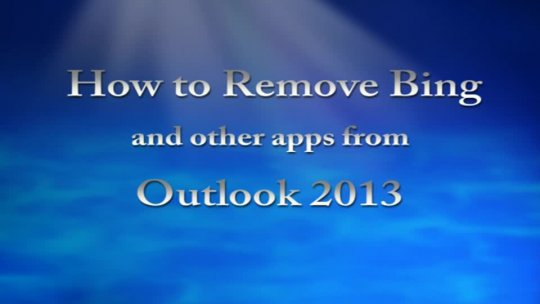 How to Remove Bing Outlook 2013