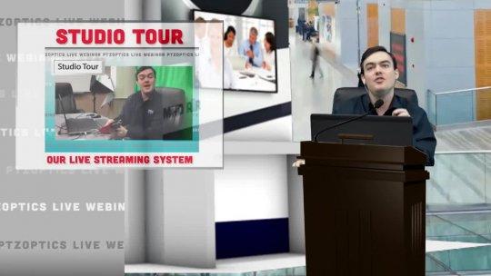PTZOptics Live  EP 20  New Auto Tracking Camera  Live Demo at University of Florida