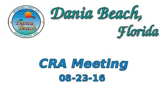 08 23 2016 CRA Meeting