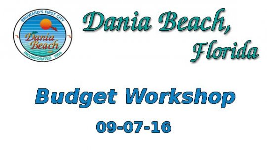 09 07 2016 Budget Workshop
