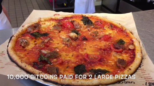 Bitcoin Pizza Piece