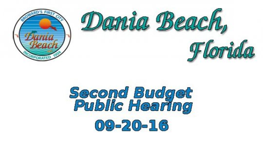 09 20 2016 Second Budget Public Hearing