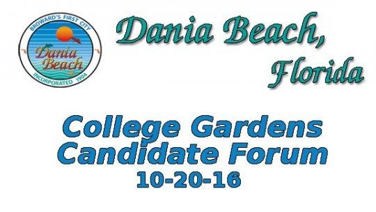 10 20 2016 College Gardens Candidate Forum