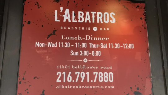 L'Albatros French Brasserie in Cleveland