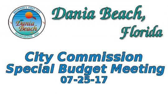 07-25-2017 Commission Special Budget Meeting