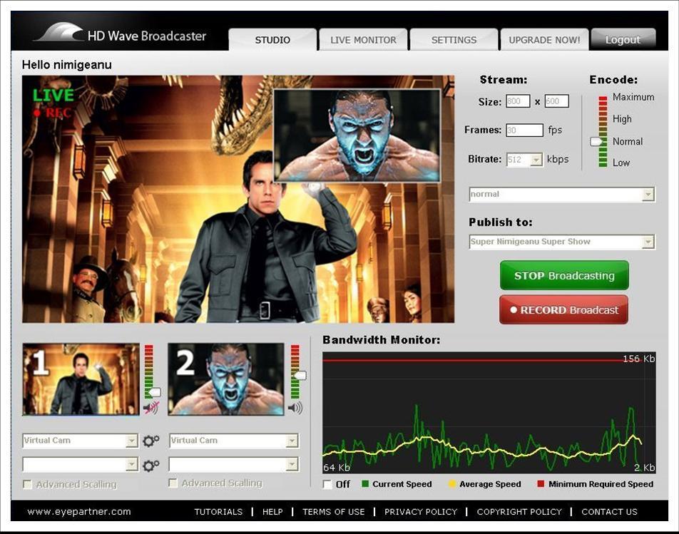 Live Streaming Software from Eyepartner
