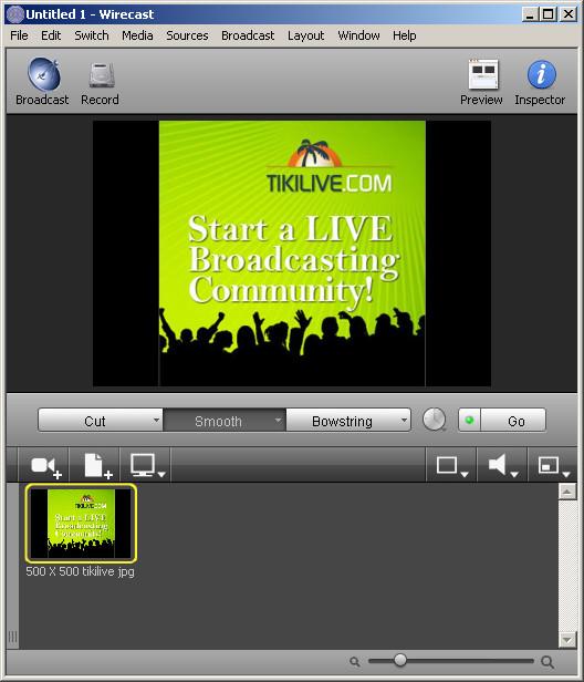 Flash Media Encoder, Vidblaster, Wirecast available on TikiLIVE